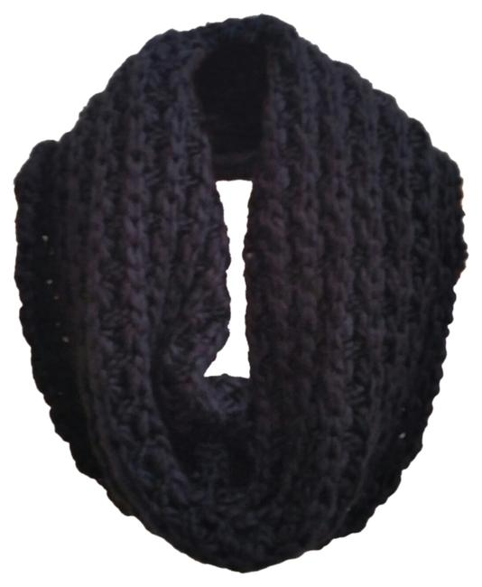 Item - Black Knitted Infinity Scarf/Wrap