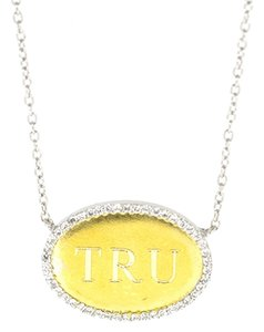 Other TRU 14K Yellow Gold 0.25Ct Diamond White Gold Chain Necklace 15