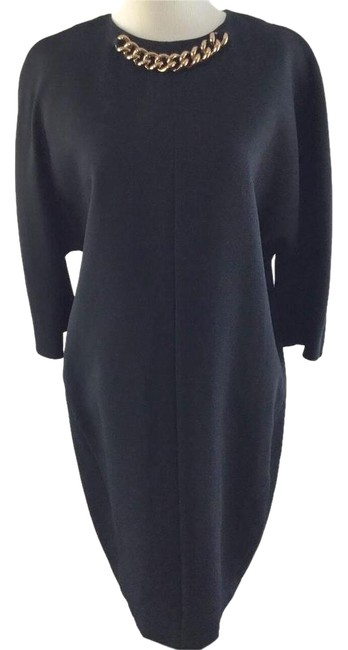 Preload https://item4.tradesy.com/images/victoria-beckham-black-34-sleeve-tapered-shift-mid-length-cocktail-dress-size-8-m-1434198-0-12.jpg?width=400&height=650