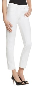 White House | Black Market Slim Ankle Stretchy Straight Pants White