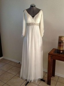 Morrell Maxie Ivory Chiffon #1096 Wedding Dress Size 2 (XS)
