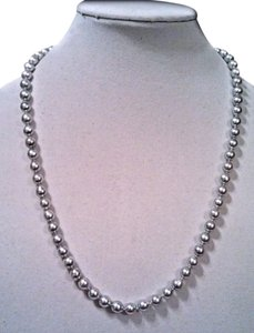 Japanese Saltwater AAA Akoya 8-8.5mm Blue-Gray Pearl Necklace 24