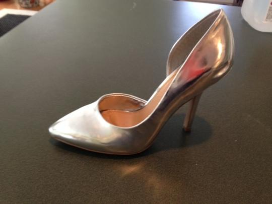 BCBG Paris Silver Pumps Image 1