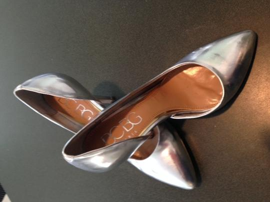 BCBG Paris Silver Pumps Image 2