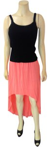 Forever 21 P1994 Hi-low Maxi Skirt pink