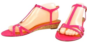 Kate Spade Patent Leather Sandal Wedge Pink Sandals