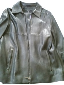 Max Mara black Leather Jacket