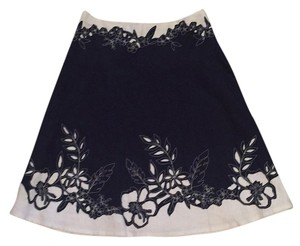 Nanette Lepore Skirt Navy & White