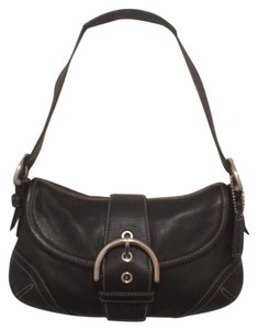 Coach Leather Black Hobo Bag