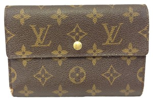 Louis Vuitton Louis Vuitton #5790 Large Long Monogram Trifold Flap Wallet Zip Zippy Pocket Bill Holder Card Case Coin Purse