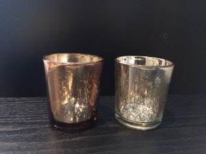 Michaels Mixed Mercury Holders (26 Silver 10 Copper) Votive/Candle