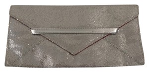 Victoria's Secret Metallic Evening Silver/ Pink Clutch