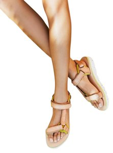 Free People Hudson X Fp Sz 37 In Tan New In Box Leather Legend Sandals
