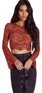 Missguided Lace Top Rust