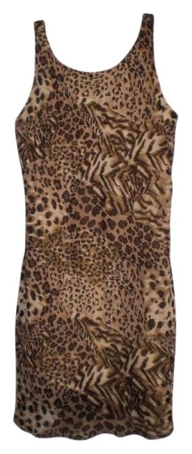 Preload https://img-static.tradesy.com/item/143444/animal-print-knee-length-night-out-dress-size-petite-14-l-0-0-650-650.jpg
