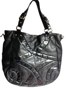 Cynthia Rowley Shoulder Leather Patent Leather On Leather Patent Leather Patent Leather Shopper Designer American Large Gm Tote in Black