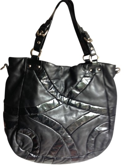Cynthia Rowley Shoulder Leather Patent Leather Leather Patent Leather Patent Leather Shopper Designer American Rectanguler Tote in Black