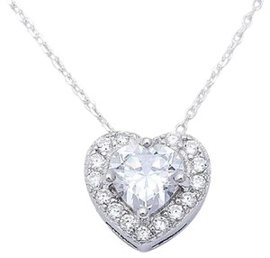 9.2.5 gorgeous 1 carat white sapphire halo heart necklace