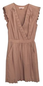 Rebecca Taylor short dress Tan, Blush Eyelet Sleeveless on Tradesy