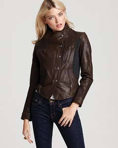 Via Spiga Olive Leather Jacket