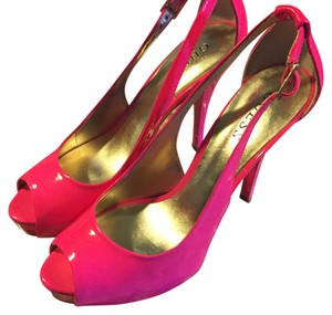 Guess Bright pink Platforms