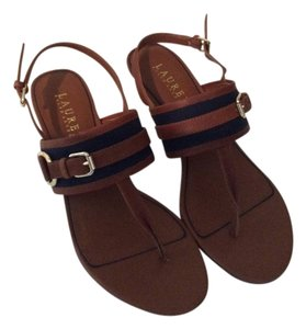 Ralph Lauren Navy/Brown Sandals