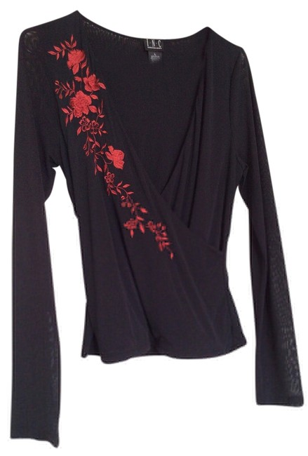Preload https://img-static.tradesy.com/item/14345230/inc-international-concepts-black-blouse-size-12-l-0-1-650-650.jpg