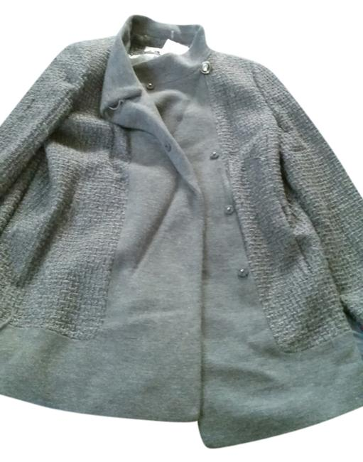 Item - Grey With Tag Heavy Knitted Lined Warm Coat Size 14 (L)