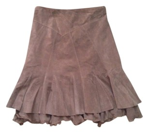 June Skirt Brown leather