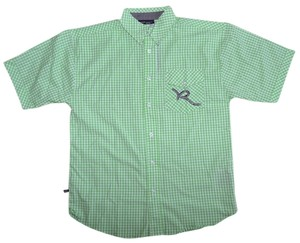 Rocawear Boys Button Down Shirt Light green