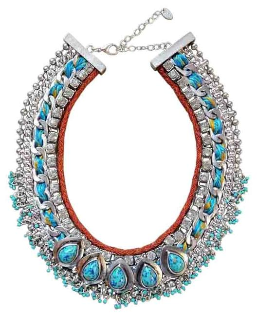 Item - Silver/Turquoise Statement Necklace