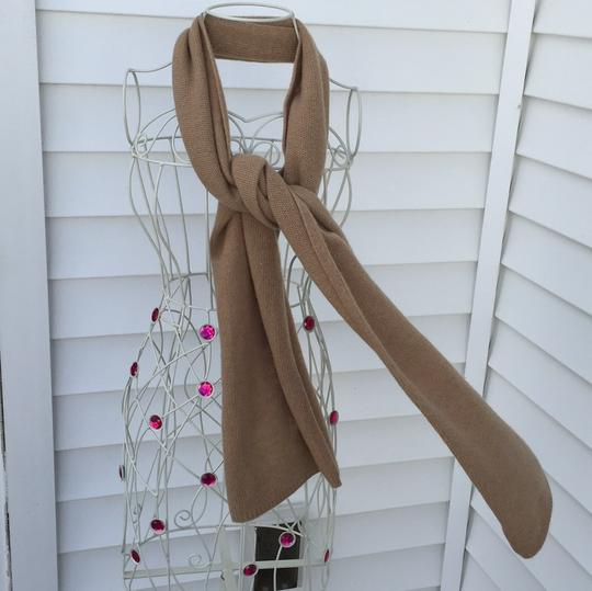 Portolano Cashmere long scarf. Tan in excellent condition. Image 1
