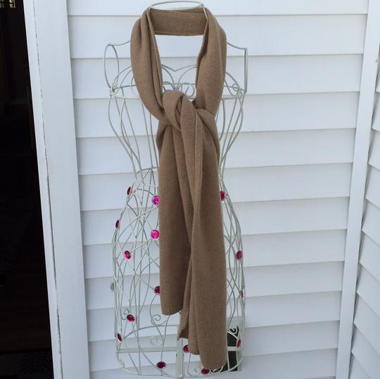 Portolano Cashmere long scarf. Tan in excellent condition. Image 3