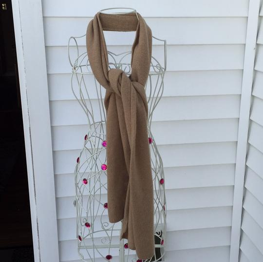 Portolano Cashmere long scarf. Tan in excellent condition. Image 4