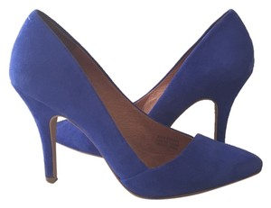 Madewell Blue Suede Pumps