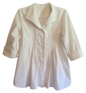 Coldwater Creek Embroidered Top White