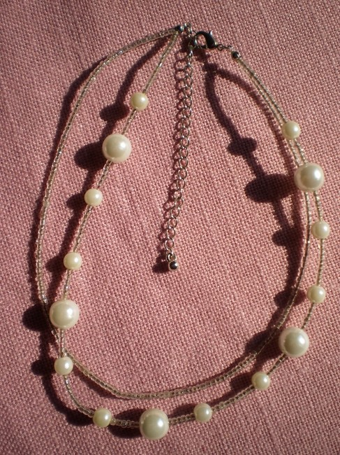 Like New Faux Pearls & Seed Beads Necklace Like New Faux Pearls & Seed Beads Necklace Image 1