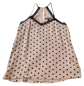 Express Top Nude with black polka-dots