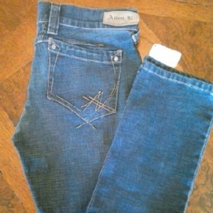 A.B.S. by Allen Schwartz Neimanmarcus Straight Leg Jeans-Medium Wash