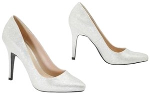"David's Bridal High Heals 4"" Silver Pumps"