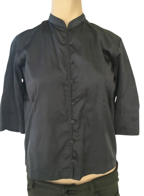 Preload https://img-static.tradesy.com/item/14346421/prada-charcoal-gray-nylon-womans-shirt-in-asian-style-button-down-top-size-6-s-0-1-650-650.jpg