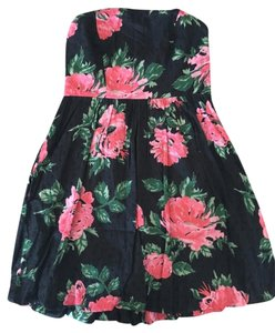 Silence + Noise short dress Pink Floral Swiss Dot Bubble Floral on Tradesy