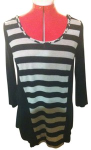A.B.S. by Allen Schwartz Striped Cut-out Back Tunic