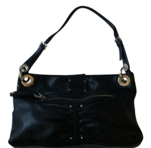 B. Makowsky Soft Leather Silver Hardware Hobo Bag
