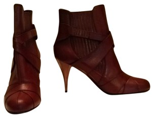 Miu Miu Designer Italian Leather Cognac Brown Boots