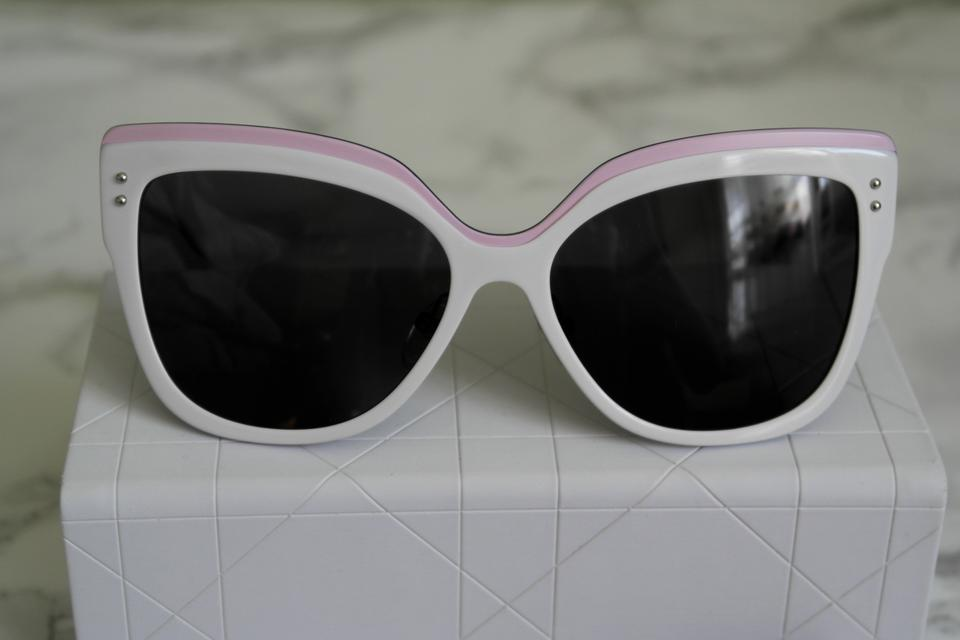 05ecc443664 Dior NEW  725 Dior Exquise Black White Colorblock Cat Eye Sunglasses Limited  Edition Japan Image 11. 123456789101112