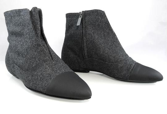 Calvin Klein Flat Oxford Ankle Pointed Toe Stone/Black Boots Image 1