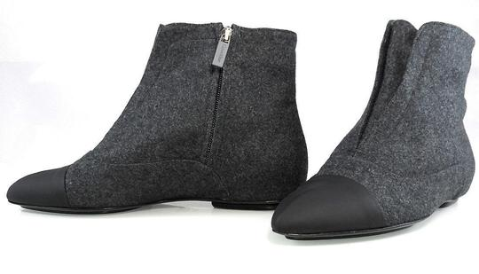 Calvin Klein Flat Oxford Ankle Pointed Toe Stone/Black Boots Image 2