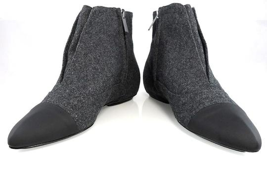 Calvin Klein Flat Oxford Ankle Pointed Toe Stone/Black Boots Image 3