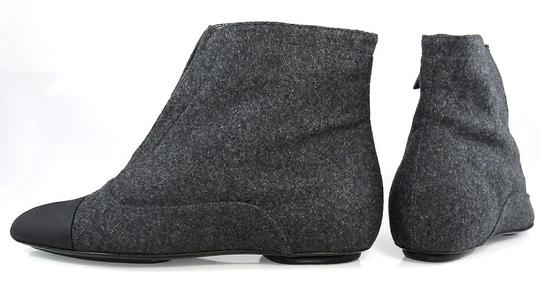Calvin Klein Flat Oxford Ankle Pointed Toe Stone/Black Boots Image 5